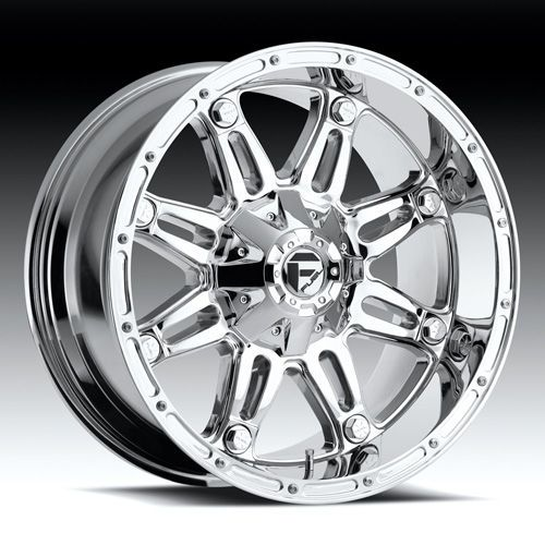 22 FUEL OFFROAD Hostage Wheel SET XD Chrome 22x9.5 RIM FORD CHEVY